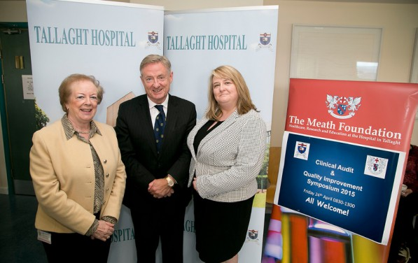 Mairead Shields, Chairman Meath Foundation with Professor Stephen, Chairman of the Meath Foundation's Research Committee and Fional Cahill, National Office of Clinical Audit at The Meath Foundation / Tallaght Hospital Clinical audit and Quality Improvement Symposium 2015