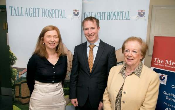 Meath Foundation / TallaghtnHospital Quality Improvement Day Friday 24th April 2015  Dr Siobhan Ni Bhriain , Dr Daragh Fahey and Mairead Shields, Chairman, The Meath Foundation