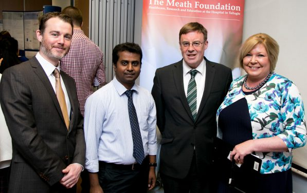 David Slevin Dr Anadan Natarajan Michael Scanlon and Siobhan Lingwood at the Clinical Audit & Quality Improvement day 29th April 2016